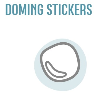 Doming stickers