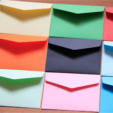 Gekleurde envelop