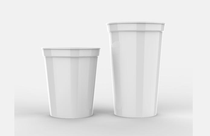 Plastic drinkbeker