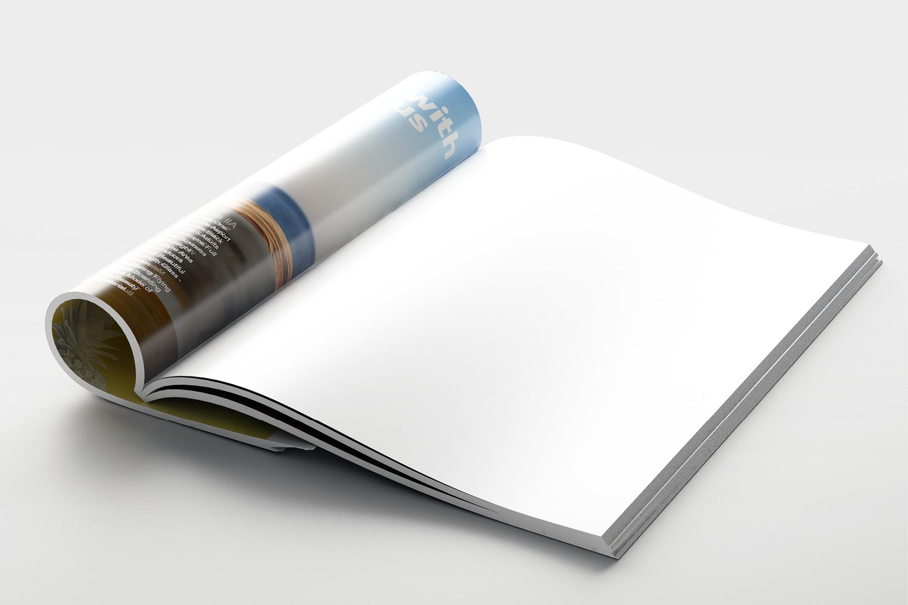 Gelijmde brochure